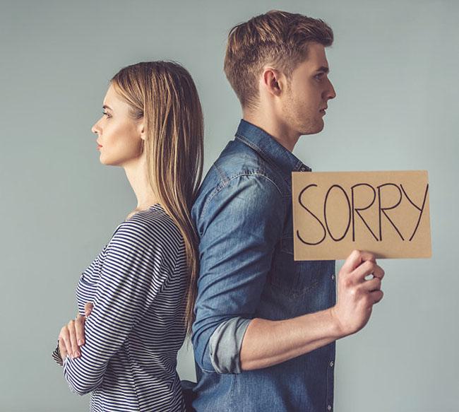 Chấp nhận những sai lầm và xin lỗi