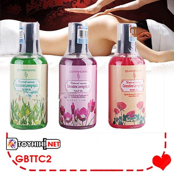 Dầu massage vợ chồng hương hoa tự nhiên quyến rũ đối phương GBTTC8