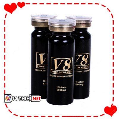 Viên uống cường dương cao cấp Mỹ V8 - hộp 3 lọ tăng cường sinh lí vượt trội TTGQHTC10 1