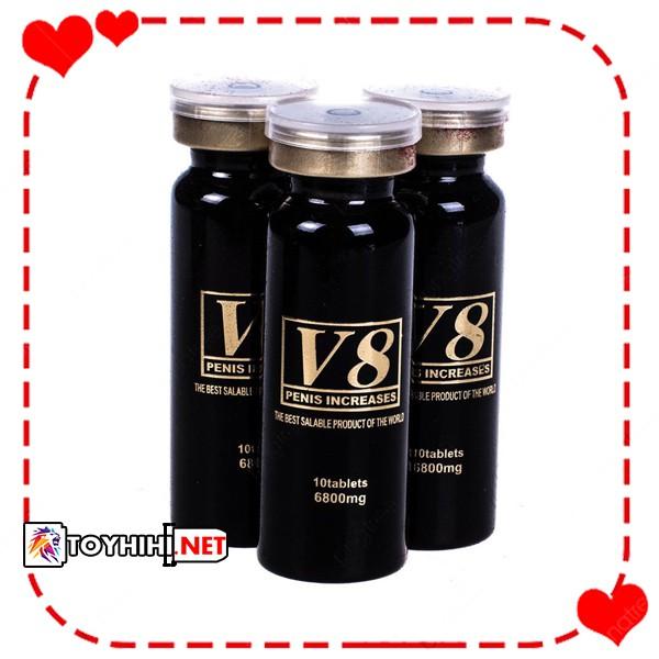 Viên uống cường dương cao cấp Mỹ V8 – hộp 3 lọ tăng cường sinh lí vượt trội TTGQHTC10