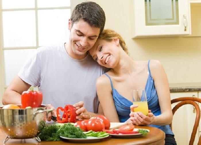 Đàn ông hãy tăng nhiều trái cây, rau củ quả giúp mùi vị tinh dịch dễ chịu hơn