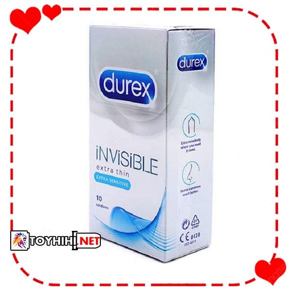 Bao cao su Durex Invisible- mỏng như không thấy cho cảm giác như thật BCSTC8