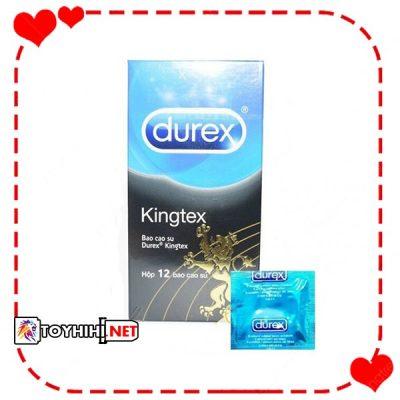 Bao cao su Durex Kingtex ôm khít hộp 12C siêu co giãn BCSTC69 1