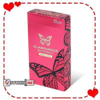 Bao cao su Glamcurous Butterfly moist 1000 siêu mỏng BCSTC11 1