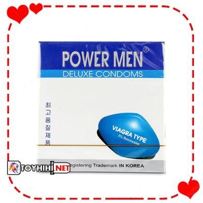 Bao cao su Powermen Viagra hộp 3 chiếc cảm giác chân thực BCSTC12 1