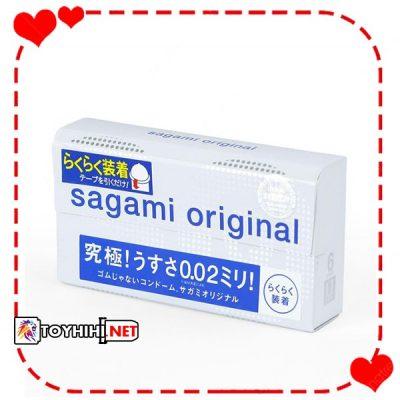 Bao cao su Sagami Original 0.02 Quick siêu co giãn BCSTC38 1