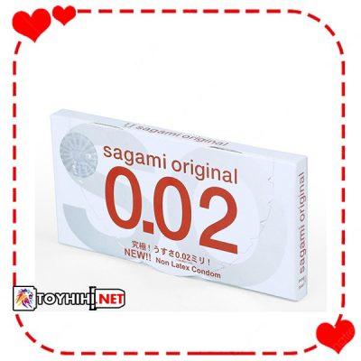 Bao cao su Sagami Original 0,02 hộp 2 chiếc siêu mỏng BCSTC77 1