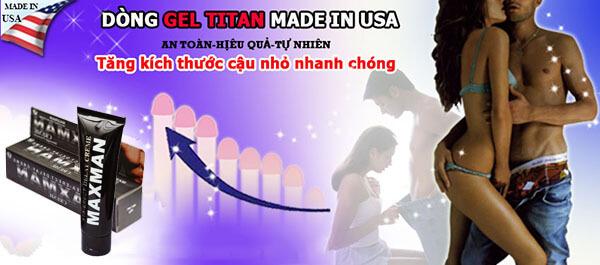 Dòng gel Titan tăng cường sinh lý phái mạnh Maxman XTSTC20