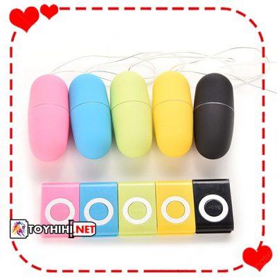 Trứng rung điều khiển từ xa MP3 sành điệu silicone cao cấp TRTC58 1