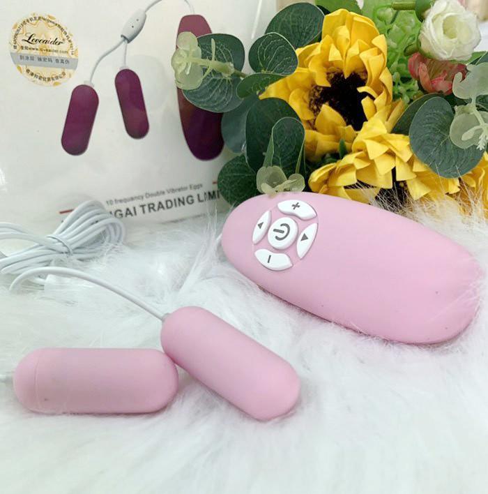 Trứng rung đôi LoveAider 10 cấp độ rung massage kích thích TRTC7