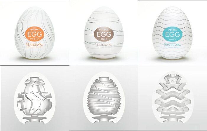 Tenga Egg được sản xuất với nhiều mẫu mã, tính năng khác nhau