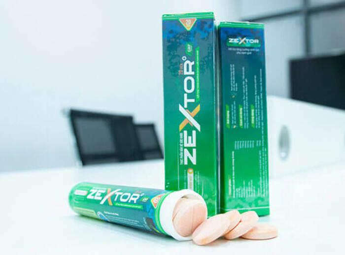 Zextor là thuốc tăng cường sinh lý ở nam giới dưới dạng viên sủi