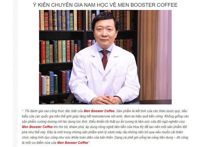 Ý kiến của chuyên gia về Men Booster Coffee