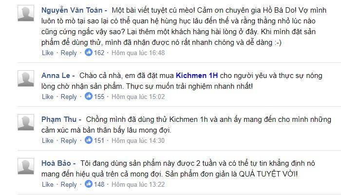Combo 2 Kichmen 1h – Shock với hiệu quả Kichmen khoái cảm cực đỉnh