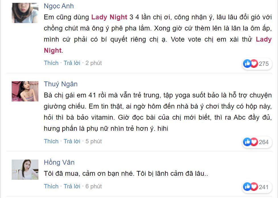 Nhận xét của khách hàng về Lady Night