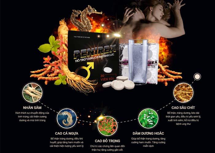 Penirex có tác dụng vượt trội là nhờ vào các thành phần, dược liệu tự nhiên có trong thuốc