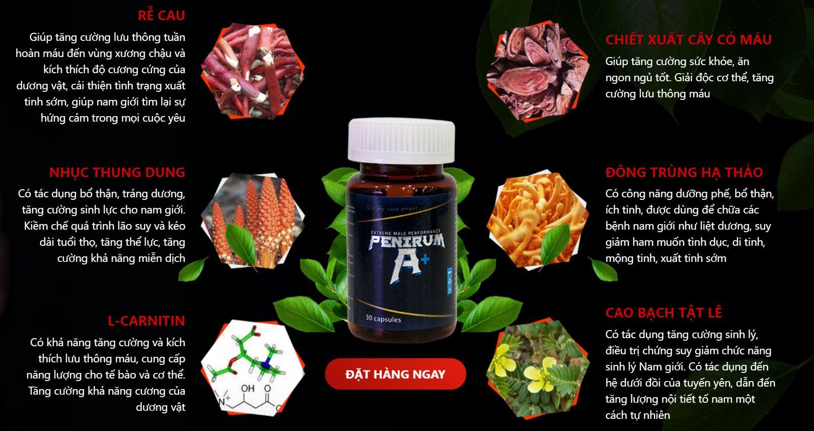 Viên uống Penirum được chiết xuất từ các thảo dược có trong tự nhiên