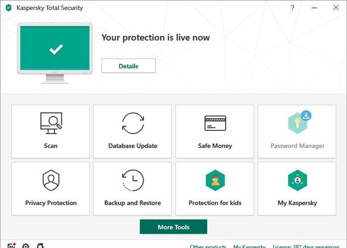 Kaspersky Total Security giúp bảo vệ nhiều thiết bị
